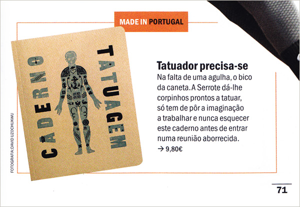 Tattoo notebook in Time Out